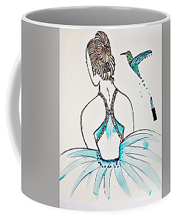 Ballerina  Hummingbird Love Coffee Mug