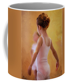 Ballerina In Pink Coffee Mug by Colleen Taylor
