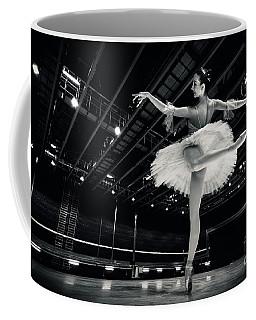 Coffee Mug featuring the photograph Ballerina In The White Tutu by Dimitar Hristov