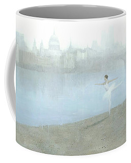 Ballerina On The Thames Coffee Mug
