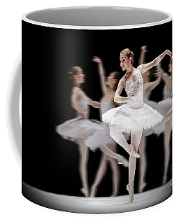 Coffee Mug featuring the photograph Ballet Dancer Dance Photography Long Exposure by Dimitar Hristov