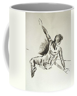 Ballet Dancer Sitting On Floor With Weight On Her Right Arm Coffee Mug