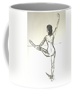 Ballet Dancer With Left Leg On Bar Coffee Mug
