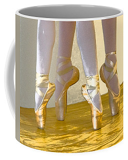 Ballet Second Position In Gold Coffee Mug