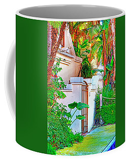Coffee Mug featuring the photograph Ballona Lagoon Gate by Chuck Staley