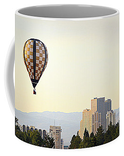 Coffee Mug featuring the photograph Balloon Over Reno by AJ Schibig