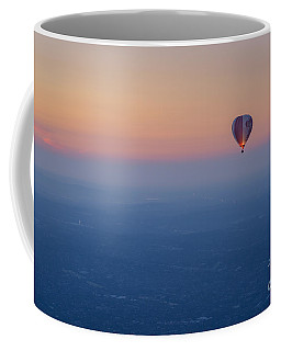 Coffee Mug featuring the photograph Ballooning In The Haze by Ray Warren