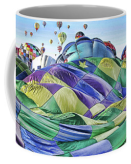 Coffee Mug featuring the photograph Ballooning Waves by Marie Leslie