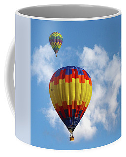 Coffee Mug featuring the photograph Balloons In The Cloud by Marie Leslie