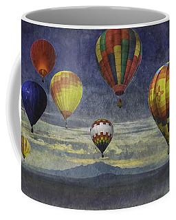 Balloons Over Sister Mountains Coffee Mug