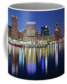 Baltimore Blue Hour Coffee Mug by Frozen in Time Fine Art Photography