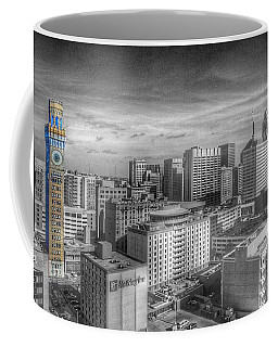 Coffee Mug featuring the photograph Baltimore Landscape - Bromo Seltzer Arts Tower by Marianna Mills