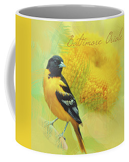 Baltimore Oriole Watercolor Photo Coffee Mug
