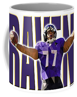 Coffee Mug featuring the digital art Baltimore Ravens by Stephen Younts