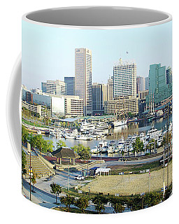 Coffee Mug featuring the photograph Baltimore's Inner Harbor by Brian Wallace