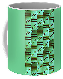 Coffee Mug featuring the mixed media Bamboo #2 by Mary Ellen Frazee