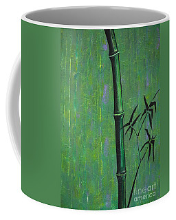 Coffee Mug featuring the painting Bamboo by Jacqueline Athmann