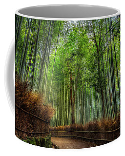 Coffee Mug featuring the photograph Bamboo Path by Rikk Flohr