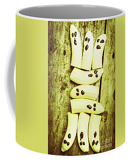 Bananas With Painted Chocolate Faces Coffee Mug