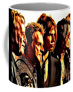 Coffee Mug featuring the painting Band Who by Catherine Lott