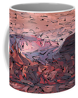 Banded Canyon Abstract Coffee Mug