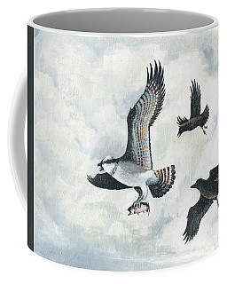 Coffee Mug featuring the painting Bandit Six Oclock High by Art MacKay