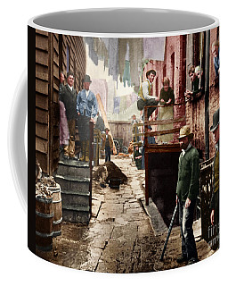 Bandit's Roost By Jacob Riis Colorized 20170701 Coffee Mug