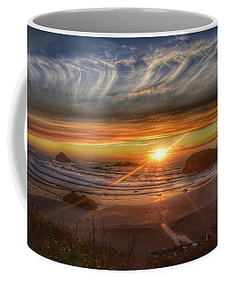 Coffee Mug featuring the photograph Bandon Sunset by Bonnie Bruno