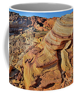 Bands Of Colorful Sandstone In Valley Of Fire Coffee Mug