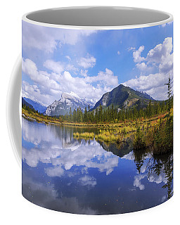 Coffee Mug featuring the photograph Banff Reflection by Chad Dutson