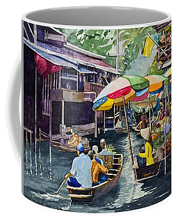 Bangkok's Floating Market Coffee Mug