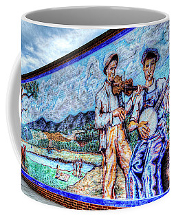 Banjo Mural Coffee Mug by Dale R Carlson