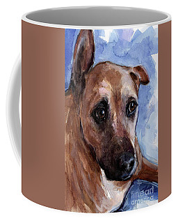 Coffee Mug featuring the painting Banks by Molly Poole