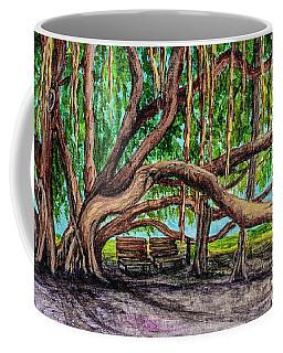 Coffee Mug featuring the painting Banyan Tree Park by Darice Machel McGuire