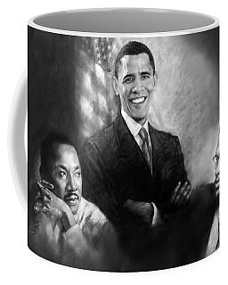 Barack Obama Martin Luther King Jr And Malcolm X Coffee Mug