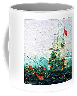 Coffee Mug featuring the digital art Barbary Pirates by Art MacKay
