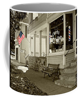 Clarks Barber Shop With Color Coffee Mug