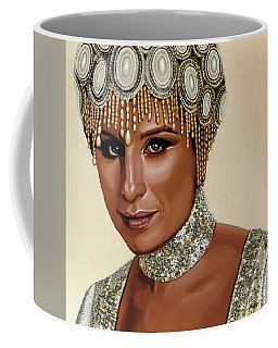 Barbra Streisand 2 Coffee Mug by Paul Meijering