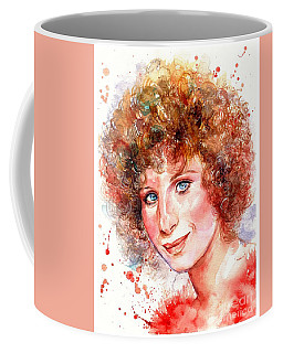 Barbra Streisand Portrait Coffee Mug