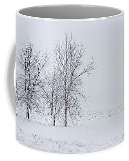 Bare Trees In A Snow Storm Coffee Mug