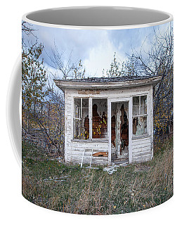 Coffee Mug featuring the photograph Barely Standing by Fran Riley