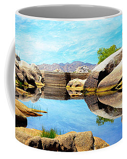 Barker Dam - Joshua Tree National Park Coffee Mug by Glenn McCarthy Art and Photography