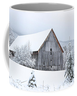 Barn After Snow Coffee Mug