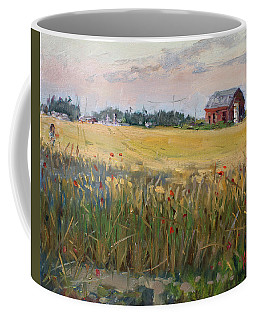 Barn In A Field Of Grain Coffee Mug