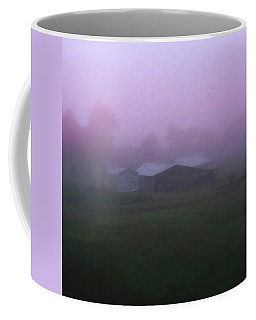 Barn On A Misty Morning Coffee Mug