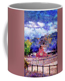 Barn On Ca Highway 154 Coffee Mug by Joseph Hollingsworth