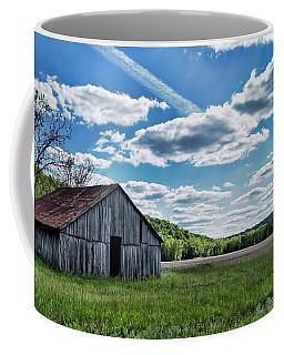 Coffee Mug featuring the photograph Barn On Cedar Creek Bottoms by Cricket Hackmann