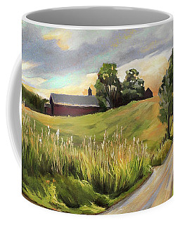 Barn On The Ridge In West Newbury Vermont Coffee Mug