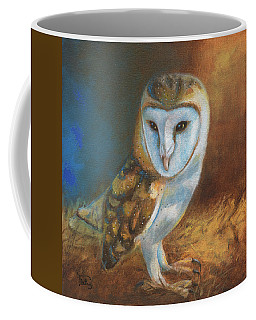 Coffee Mug featuring the painting Barn Owl Blue by Terry Webb Harshman