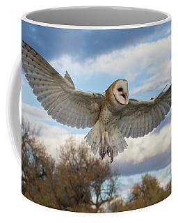 Barn Owl Makes A Happy Landing Coffee Mug